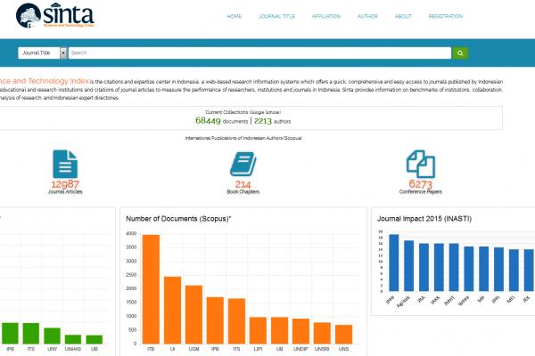 Pendaftaran diri dosen dan peneliti di portal SINTA