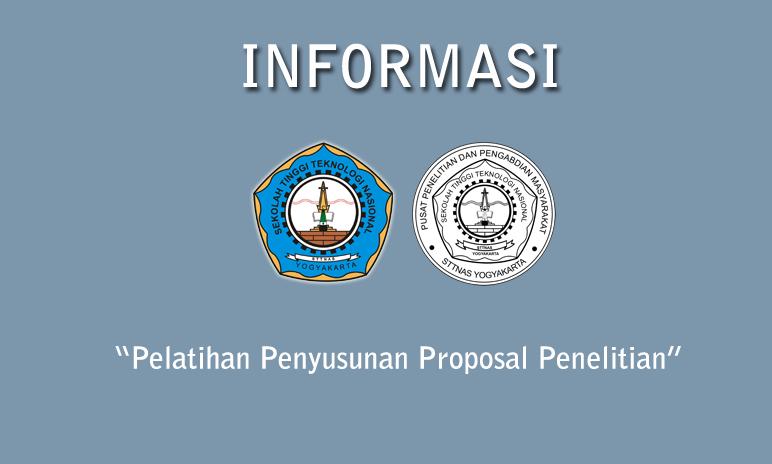 Undangan Penawaran Pelatihan Penyusunan Proposal Penelitian